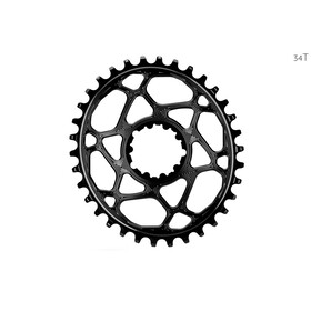 absoluteBLACK Oval Chainring Spiderless Boost148 for SRAM, black